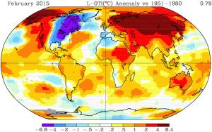 Global Temperatures Analogies Feb 2015