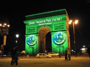 Triumphant Celebration at Arc de Triomphe de l'Étoile